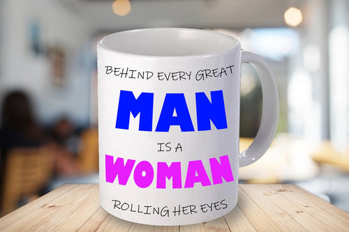 Behind Every Man Personalised Mug - A Pinch of Love Gifts
