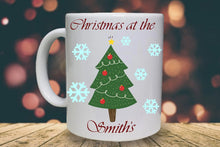 Load image into Gallery viewer, Christmas at the ... Personalised Mug - A Pinch of Love Gifts