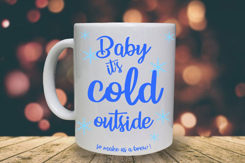 It's Cold Outside Personalised Mug - A Pinch of Love Gifts