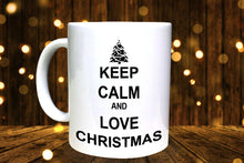 Load image into Gallery viewer, Keep Calm & Love Christmas Personalised Mug - A Pinch of Love Gifts