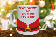 Load image into Gallery viewer, Merry Christmas Santa Design Personalised Mug - A Pinch of Love Gifts