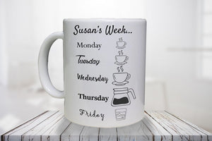 Weekly coffee - Personalised Mug - A Pinch of Love Gifts