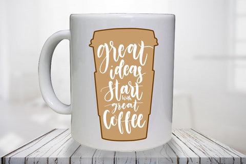 Great ideas start with great coffee - Personalised Mug - A Pinch of Love Gifts
