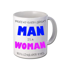 Load image into Gallery viewer, Behind Every Man Personalised Mug - A Pinch of Love Gifts