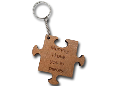 Mummy is the piece that keeps us together keyring