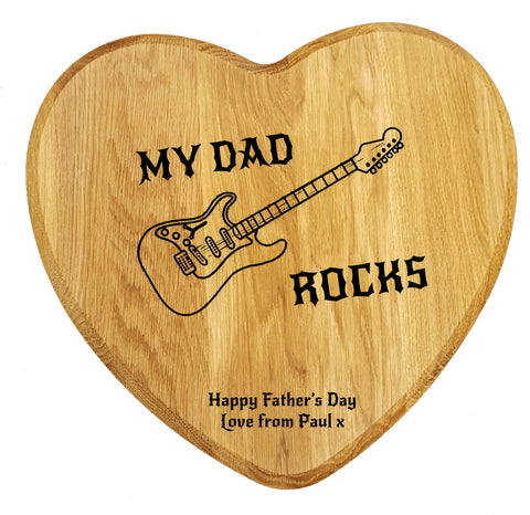 my dad rocks laser engraved chopping board father's day