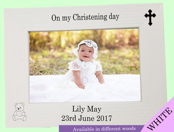 Personalised Christening Photo Frame - A Pinch of Love Gifts