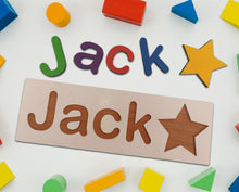 Load image into Gallery viewer, Personalised Name Plaque, Wooden Baby Gift - A Pinch of Love Gifts