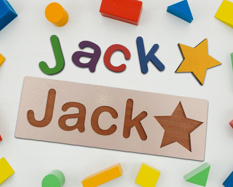 Personalised Name Plaque, Wooden Baby Gift - A Pinch of Love Gifts