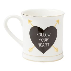 "Ceramic Mug ""Follow Your Heart"""