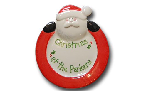 Hand Painted Santa Plate