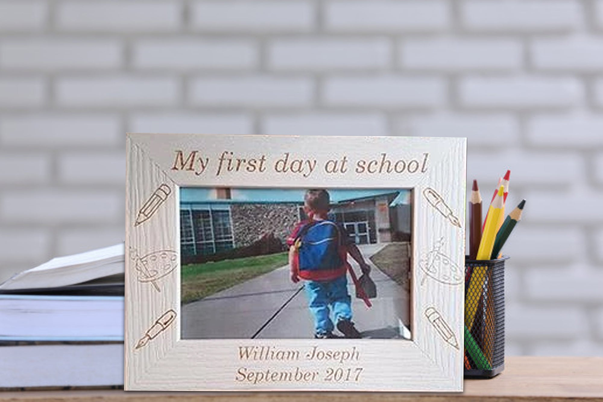My First Day at School Photo Frame - A Pinch of Love Gifts