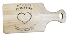 Load image into Gallery viewer, Cooking together Personalised Chopping Board - A Pinch of Love Gifts