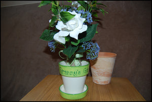 Hand Painted Small Personalised Plant Pot