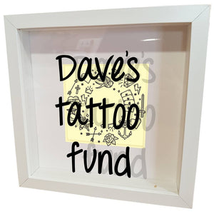 Tattoo fund personalised box frame! - A Pinch of Love Gifts