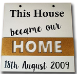 This house became our home! Hanging sign - A Pinch of Love Gifts