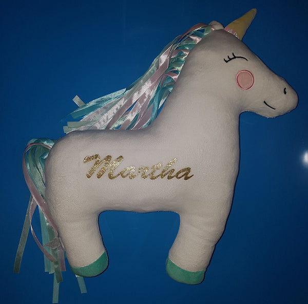 Personalised Unicorn Cushion