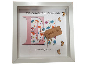 Welcome to the world 3D Frame - A Pinch of Love Gifts