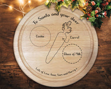 "Load image into Gallery viewer, Engraved ""Santa Treat"" Alternative style Chopping Board - A Pinch of Love Gifts"