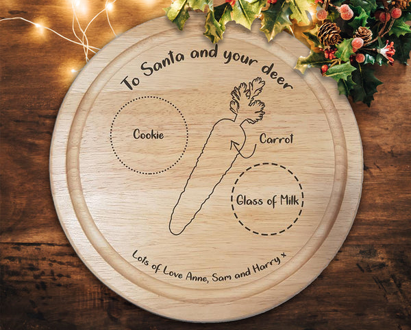 "Engraved ""Santa Treat"" Alternative style Chopping Board - A Pinch of Love Gifts"
