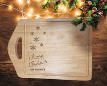 "Load image into Gallery viewer, Engraved ""Merry Christmas"" Chopping Board - A Pinch of Love Gifts"