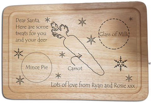 santa treats christmas eve wooden board