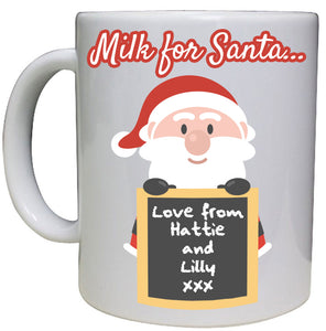 Milk for Santa Personalised Mug