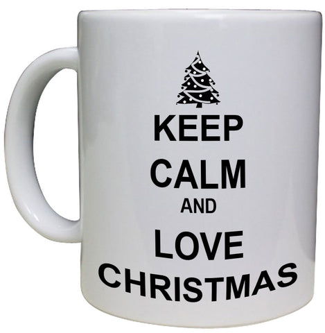 Keep Calm & Love Christmas Personalised Mug