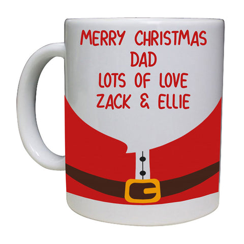Merry Christmas Santa Design Personalised Mug