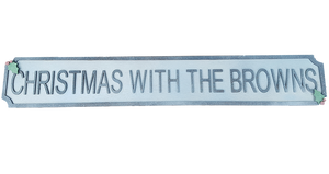 Christmas Style Street Sign