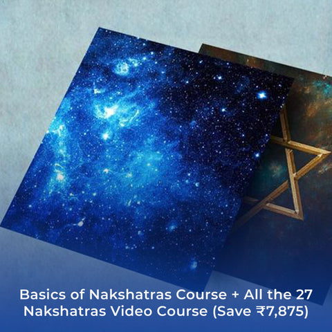 Basics of Nakshatras Course + All the 27 Nakshatras Video Course (Save ₹7,875)