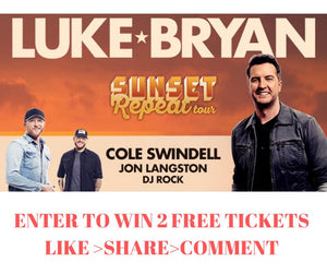 DON'T MISS YOUR CHANCE TO WIN LUKE BRYAN TICKETS!