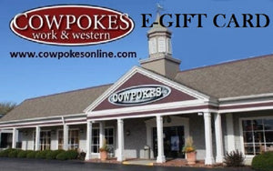 INTRODUCING OUR NEW COWPOKES E-GIFT CARD