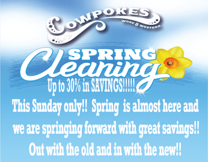 DON'T MISS OUR SPRING CLEANING SALE