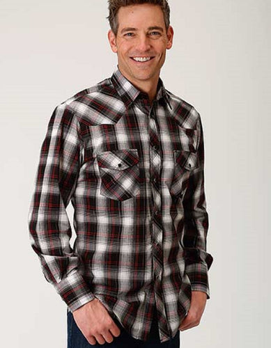 ROPER MEN'S WOVEN PLAID SNAP SHIRT- STYLE #01-001-0101-0741