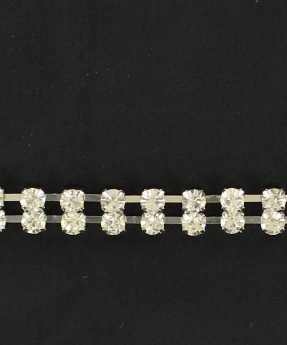 M&F Western Leather Rhinestone Hatband- Style #02630