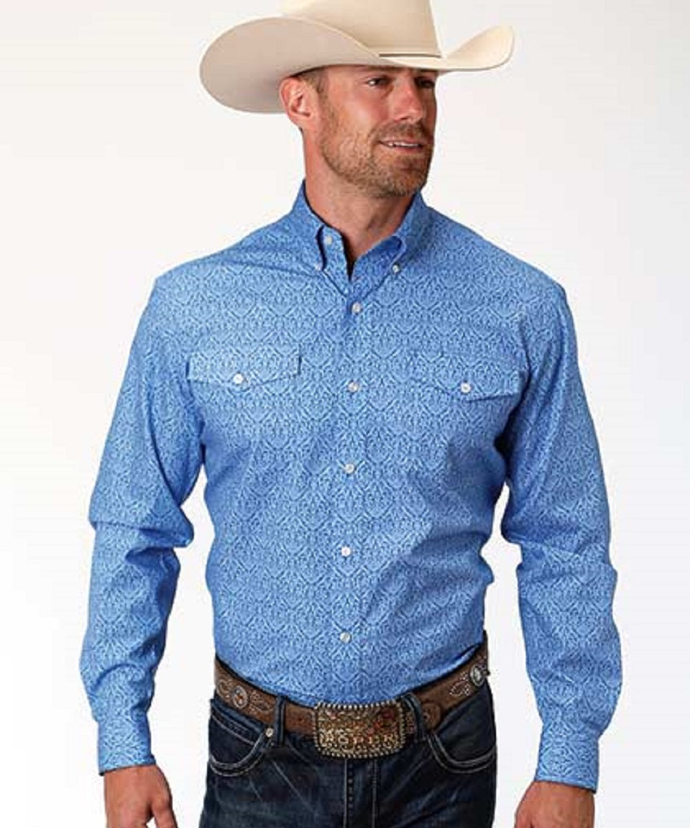 Roper Men's Amarillo Dusk Print Button Down Shirt- Style #03-001-0325-0366