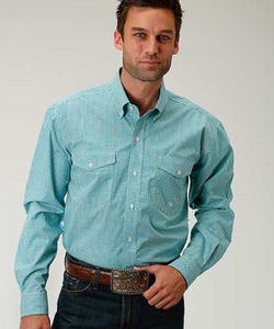 ROPER MEN'S LONG SLEEVE PLAID BUTTON DOWN SHIRT - STYLE #03-001-0378-0507