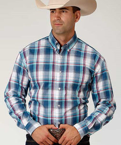 Roper Men's Loyal Plaid Button Down Shirt- Style #03-001-0379-5003