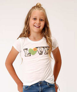 Roper Girls' Five Star Love Tee- Style #03-009-0514-4070