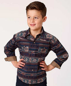 Roper Boys' Cloudy Sunset Print Snap Shirt- Style #03-030-0064-0630