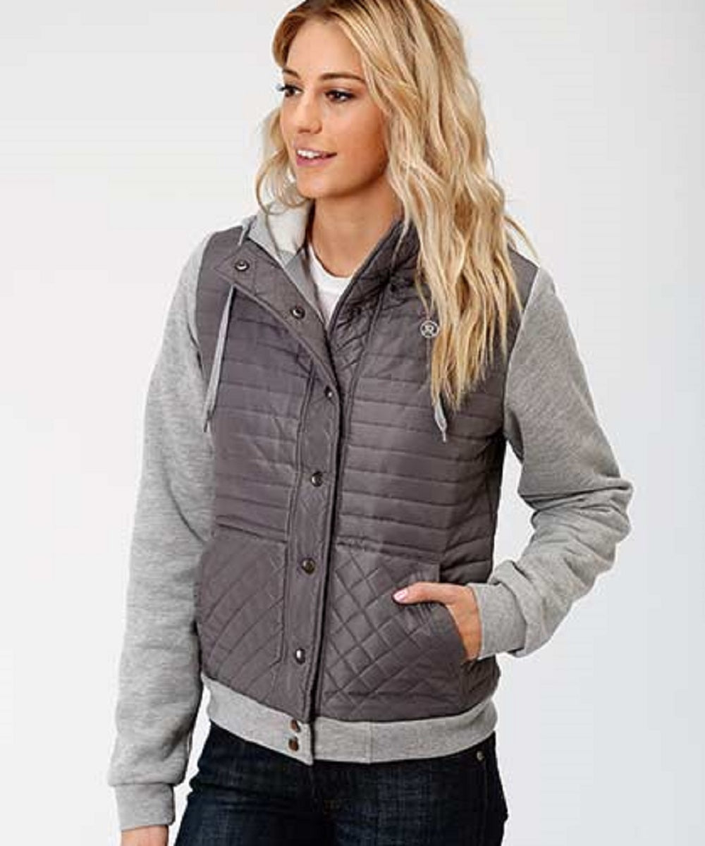 Roper Women's Quilted Micro Fiber Combo Jacket- Style #03-098-0637-6110