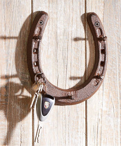 Gift Craft Cast Iron Horseshoe Design Wall Hook- Style #087182