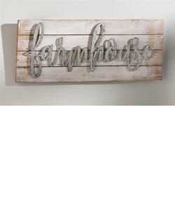 Gift Craft Farmhouse Sentiment Wall Decor- Style #088294