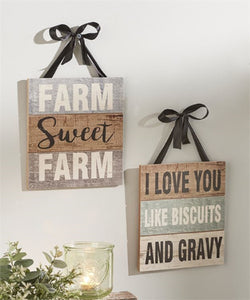 Gift Craft Country Design Wall Signs- Style #088322