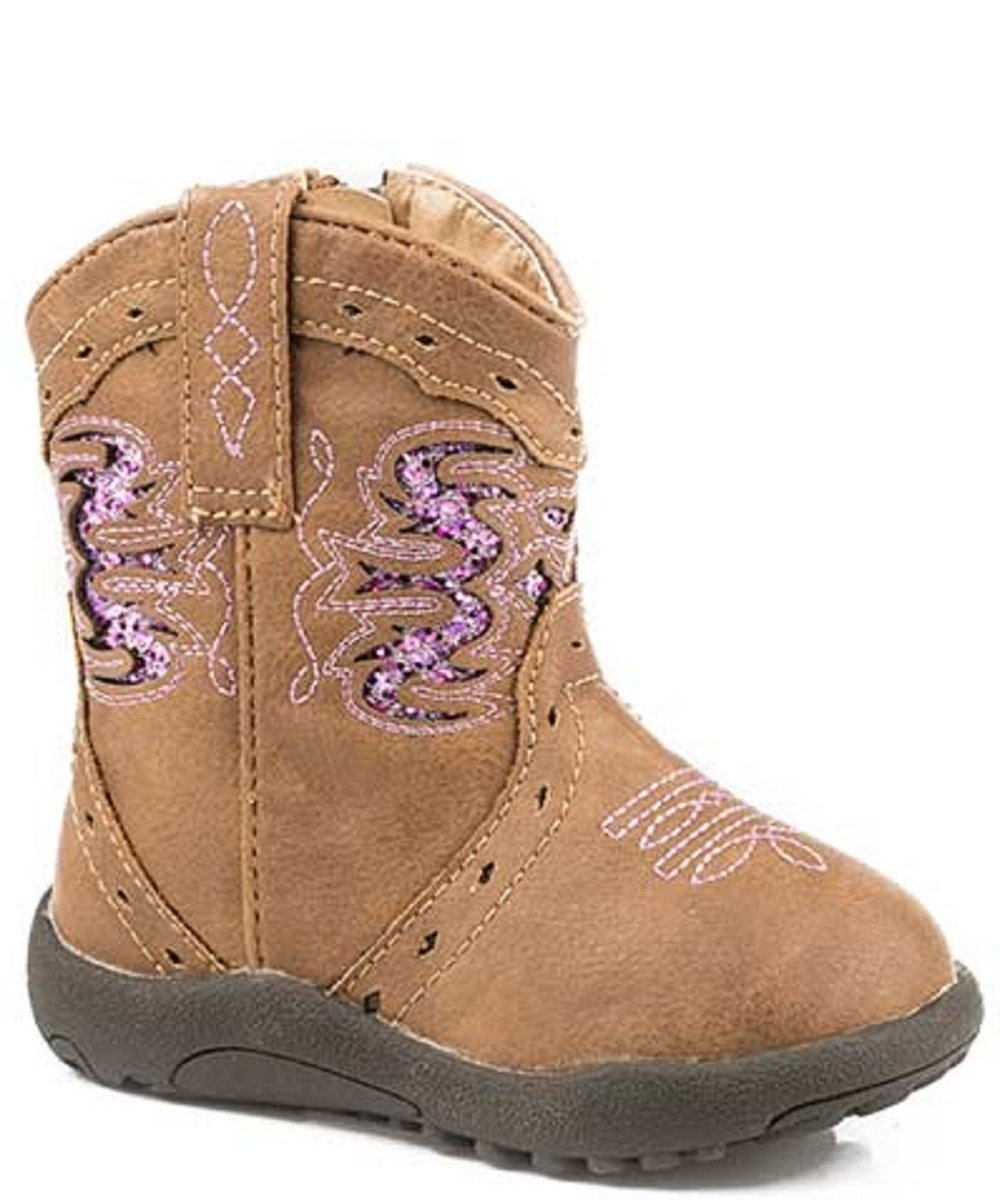 ROPER INFANTS' LEXI GLITTER INLAY BOOT- STYLE #09-016-1901-1527