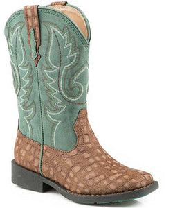 ROPER YOUTH SQUARE TOE BOOTS - STYLE #09-018-1226-2203