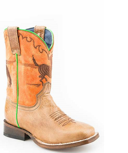 Roper Toddler Bucking Bronc Leather Boot- Style #09-018-7022-1515