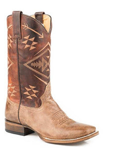 ROPER WOMEN'S RUBY AZTEC EMBROIDERED SQUARE TOE BOOT- STYLE #09-021-9200-0230