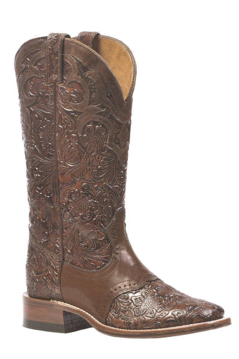 BOULET WOMENS SADDLE VAMP TOOLED BOOT- STYLE #1062